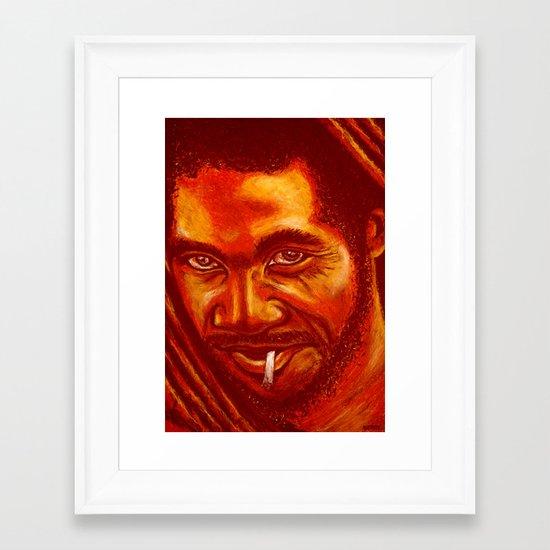 up in smoke! Framed Art Print
