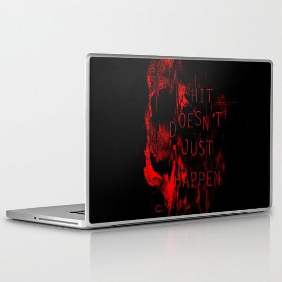 Shit Doesn't Just Happen Laptop & iPad Skin