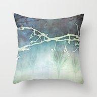 Winter Vigne Throw Pillow