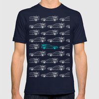 Forward To The Past Mens Fitted Tee Navy SMALL