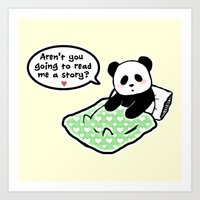Read Panda A Story Art Print