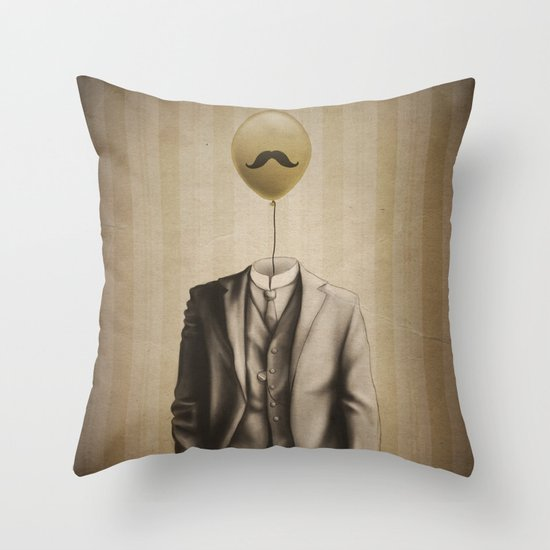 Mr. Whiskers Throw Pillow