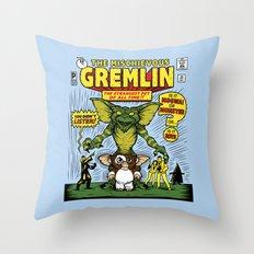 The Mischievous Gremlin Throw Pillow