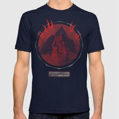 Mountain of Madness (red) Mens Fitted Tee Navy SMALL