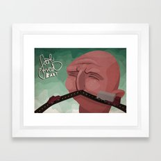 Mustache speed Framed Art Print