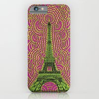 Eiffel Tower Drawing Meditation - Green/Pink/Yellow iPhone 6 Slim Case