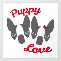 Puppy Love. Art Print