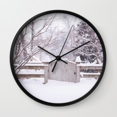 Snow Gate  Wall Clock