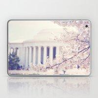 Cherry Blossoms at the Jefferson Memorial Washington DC Laptop & iPad Skin