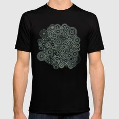 Mandalas SMALL Mens Fitted Tee Black