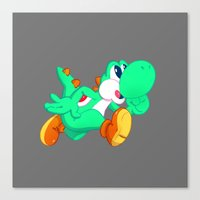 Green Yoshi Canvas Print