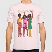 The Supremes Mens Fitted Tee Light Pink SMALL