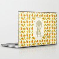 rabbit Laptop & iPad Skins featuring Rabbit by Jane Mathieu