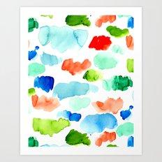Watercolor Swatch Pattern Art Print