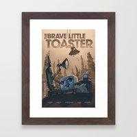 The Brave Little Toaster Framed Art Print