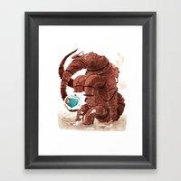 Space Brontosaurus  Framed Art Print
