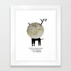 Strange Animal Framed Art Print