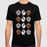 Billy, Bob & Fido.  Mens Fitted Tee Black SMALL