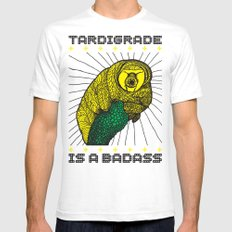 Tardigrade White Mens Fitted Tee SMALL