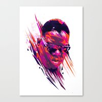 The Notorious B.I.G: Dead Rappers Serie Canvas Print