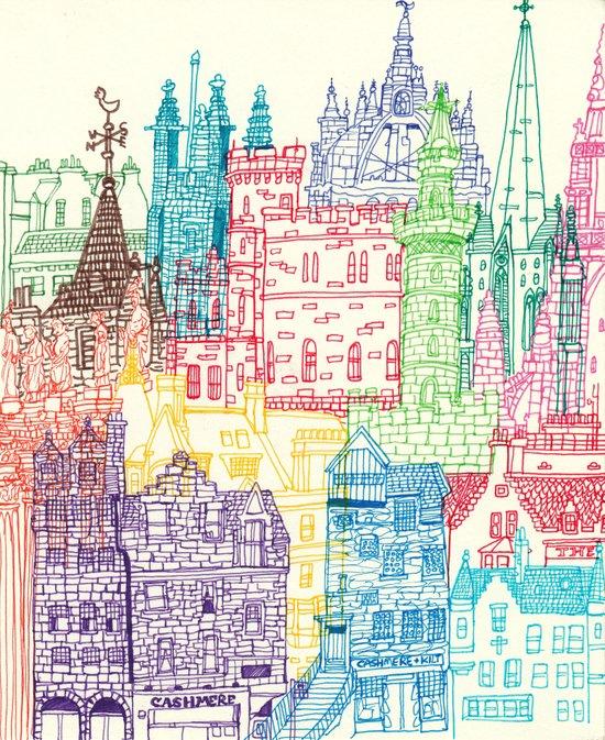 Edinburgh Towers Art Print