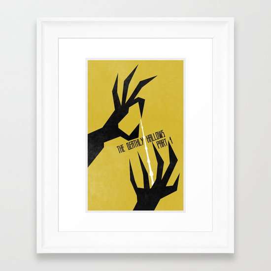The Deathly Hallows Pt.1 (The Boy Who Lived 7 of 8) Framed Art Print
