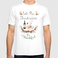 Be Thankful Mens Fitted Tee White SMALL