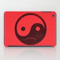 yin yang smiley ;-( iPad Case