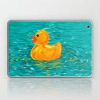 Quack Quack Says the Plastic Duck! Laptop & iPad Skin