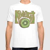 Kiwifruit. Mens Fitted Tee White SMALL