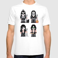 Pixel Kiss SMALL Mens Fitted Tee White
