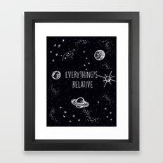 Everything's  Relative Framed Art Print