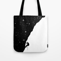 night climbing Tote Bag