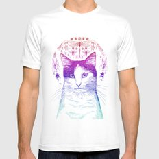 Of cats and insects Mens Fitted Tee White SMALL