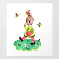 Rebecca Rabbit As Franco… Art Print