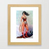 wonder w Framed Art Print