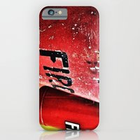 iPhone & iPod Case featuring Fire in a Bucket-Colour edition by Efua Boakye