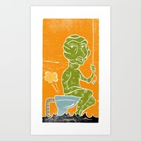 The Black Lagoonie Art Print
