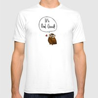 It's Owl Good! Mens Fitted Tee White SMALL