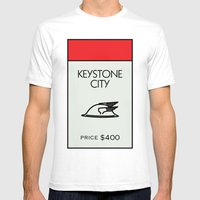 Keystone City Monopoly Location Mens Fitted Tee White SMALL