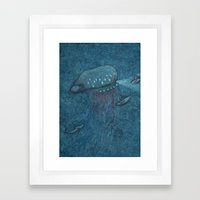 Jellyfish Submarine Framed Art Print