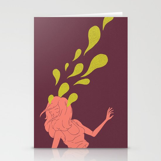 Haunted Hair Stationery Card