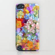 Rainbow Flower Shower iPod touch Slim Case