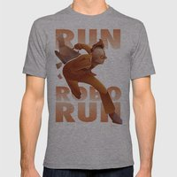 RUN ROBO RUN Mens Fitted Tee Athletic Grey SMALL