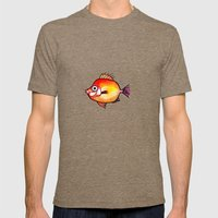 Pesce Rosso Mens Fitted Tee Tri-Coffee SMALL