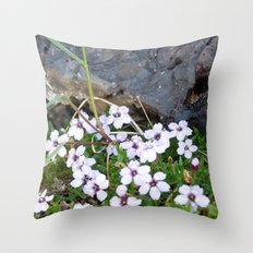 Volcanic flowers Throw Pillow