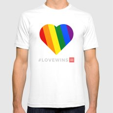 #LoveWins Mens Fitted Tee White SMALL