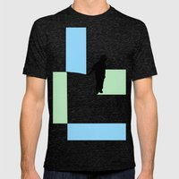 Fishing for Color Mens Fitted Tee Tri-Black SMALL