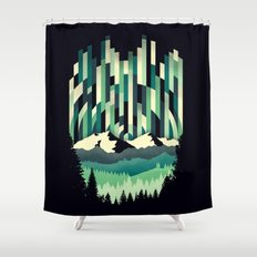 Sunrise in Vertical - Winter Blues Shower Curtain