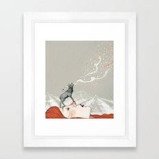 Deer Lady! Framed Art Print